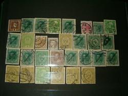 30 darab K u K Oszták Magyra monarchiás magyar ausztria bélyeg bélyegek egyben lot gyűjtemány