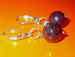 Garnet pearl earrings