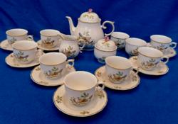 Raven house bird tea set