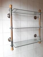 Art deco bathroom shelf