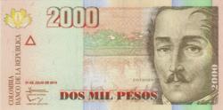 Kolumbia 2000 peso 2014 UNC