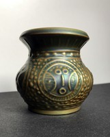 Antik Zsolnay eozin busó váza