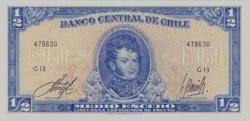 Chile 1/2 Escudo 1962 UNC