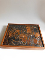 Hunting for the Wonder Deer - Copper Embossed Table Box.