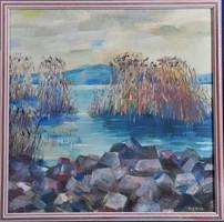 Sándor Berta (1929-): winter at Lake Balaton