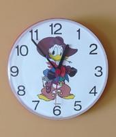 Retro disney, donald duck, child wall clock