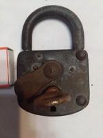 Antique padlock - works - larger size