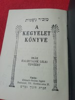 Maskir - A kegyelet könyve,  judaika kis füzet