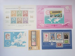 1977. Europe cut and serrated pair of blocks (serial number tracker) and 22 commemorative arches