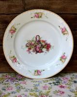 Antique mz altrohlau porcelain wall bowl with beautiful rose basket pattern