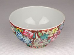 0I457 antique marked hand painted chinese porcelain cup