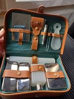 Midcentury, gilette type, luxury retro, travel razor set