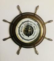 Vintage barometer - ship's steering wheel
