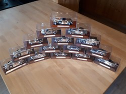 Complete silver car collection. Silver plated, sports car legends. Limited edition.