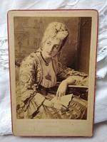 Antique German light print / hardback photo of beautiful lady based on the work of Italian painter l.Bianchi