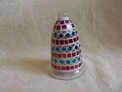 Mosaic mosaic glass bell ornament