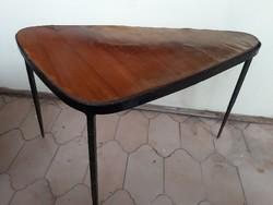 Kovácsoltvas/bronz ötvözet retro iparművészeti asztal keret / váz