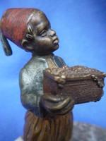 Antique Viennese bronze statue of an oriental Turkish figurine.