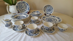 English, onion pattern blue onion myott, tableware 29 pcs.