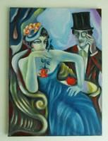Vamp / art deco styl./Seres Sándor olaj festménye