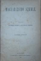 Hungarian - Jewish Review 1887. - Judaica