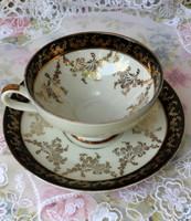 Schlottenhof bavaria ecru porcelain, richly gilded tea set