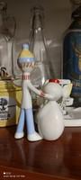 Art deco snowman with little boy