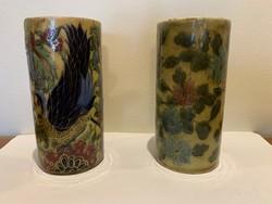 Zsolnay váza pár, sérült