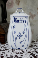 Coffee holder with hand-painted Meissen pattern