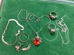 Silver, stone jewelry package! For sale together!
