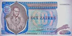 Zaire 10 Zaïres 1977 UNC