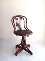 Original, marked Viennese thonet (joseph khon) with backrest swivel chair