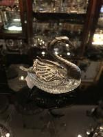 Ezüst hattyú alakú fűszertartó