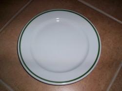 Alföldi tányér zöld csíkkal