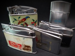 Vintage lighter collection of 9 pieces