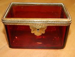 Antique glass sugar box 19th century