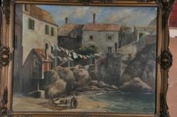 George Szvetenay (1896-1952) ragusa / dubrovnik, coastal landscape