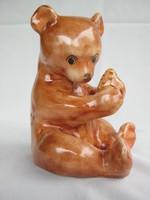 Bodrogkeresztúr ceramic teddy bear 16 cm