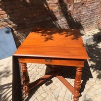 Antique maraud ash wooden table, extendable for 6 people