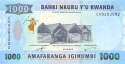 Ruanda 1000 Frank 2019 UNC
