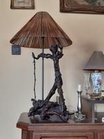 Kobold lámpa, hatalmas szőlőtőke, szőlőgyökér iparművészeti asztali / hangulat lámpa