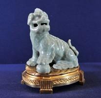 Antique Chinese celadon pho dog, 17th Century