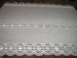 Beautiful vintage style double lacy stained glass curtain