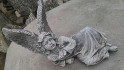 Beautiful original antique about 25cm artificial stone garden angel sculpture rarity