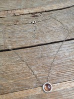 Gold plated silver necklace with pendant