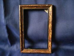 Antik fa képkeret képráma 16 x 11 cm