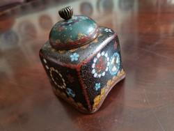Antique oriental fire enamel box