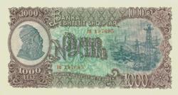 Albánia 1000 Albán Lek 1957 UNC