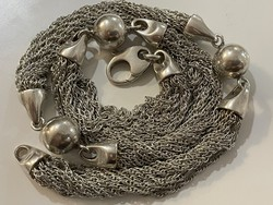 Thick silver necklace, beautiful necklace