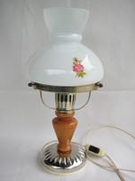 Üvegbúrás asztali lámpa